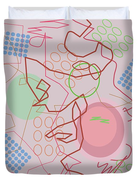Abstract 8 Pink Duvet Cover