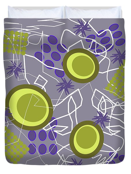 Abstract 8 Purple Duvet Cover