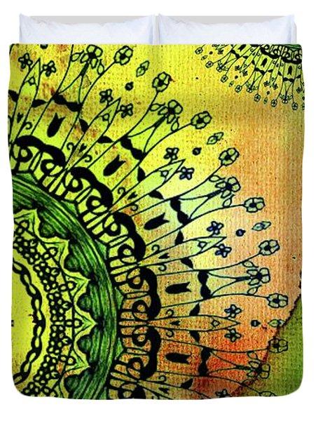 Abstract Acrylic Art The Garden Duvet Cover