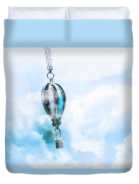 Abstract Air Baloon Hanging On Chain Duvet Cover