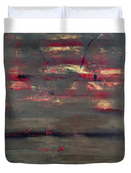 Abstract America   Duvet Cover by Antonio Ortiz