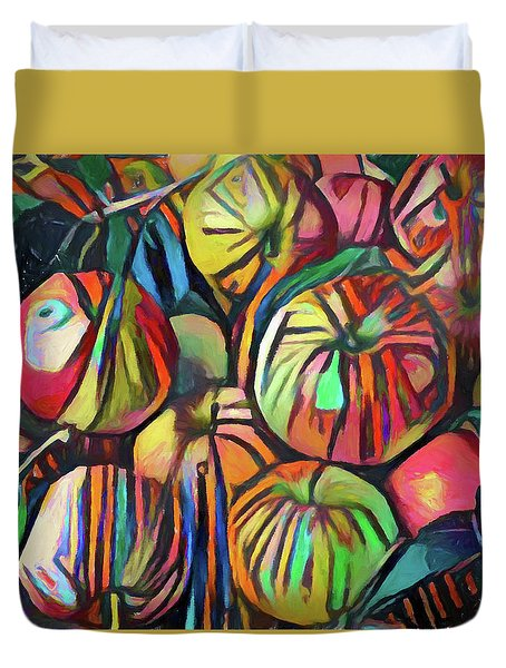 Abstract Apples Duvet Cover