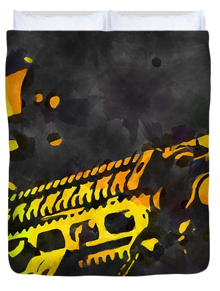 Abstract Ar15 Watercolor Duvet Cover