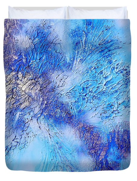 Abstract Art - The Colors Of Winter Duvet Cover