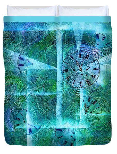 Abstract Art - Time Fragments Duvet Cover