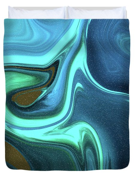 Abstract Art Union Vertical Format Duvet Cover