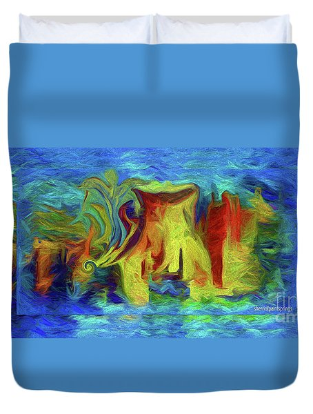 Abstract Artgo With The Flow Duvet Cover