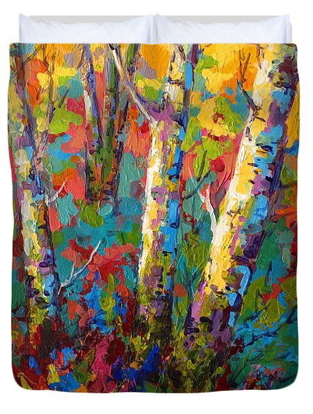 Abstract Autumn II Duvet Cover