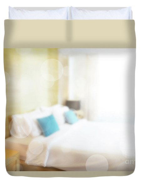 Duvet Cover featuring the photograph Abstract Bedroom by Atiketta Sangasaeng