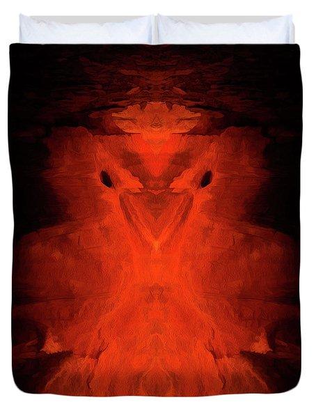 Abstract Bird 01 Duvet Cover by Scott McAllister