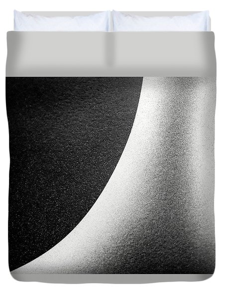 Abstract-black And White Duvet Cover