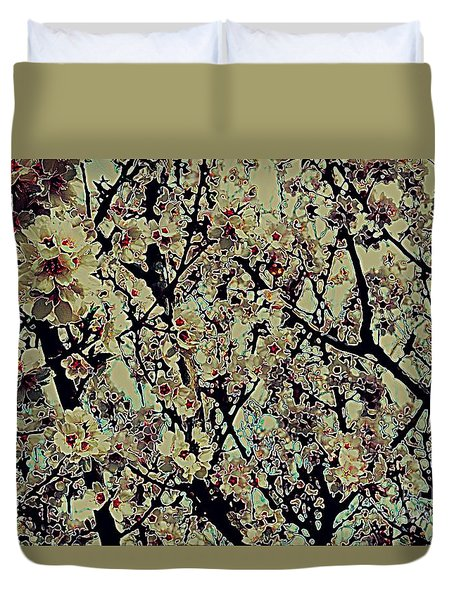 Abstract Blossoms Duvet Cover