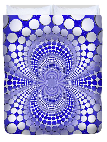 Abstract Blue And White Pattern Duvet Cover