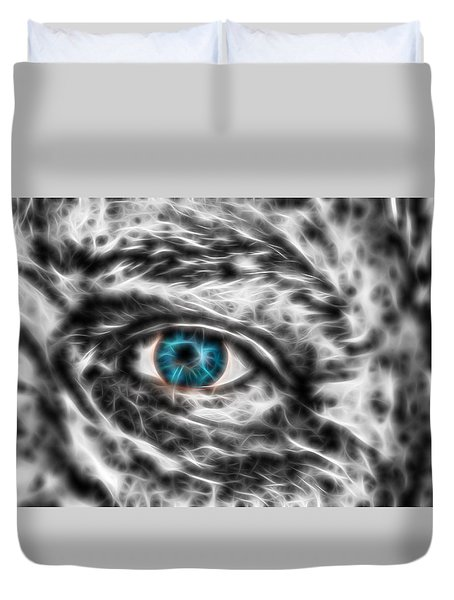 Duvet Cover featuring the photograph Abstract Blue Eye by Scott Carruthers