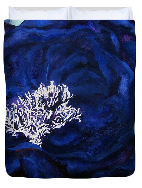 Abstract Blue Duvet Cover by Lil Taylor