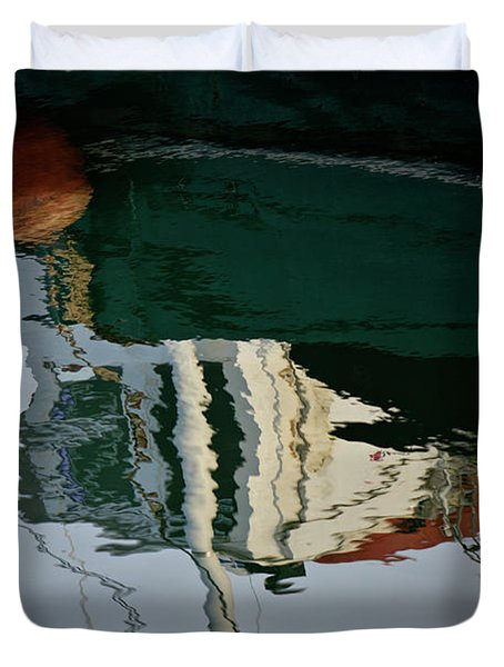 Abstract Boat Reflection II Duvet Cover