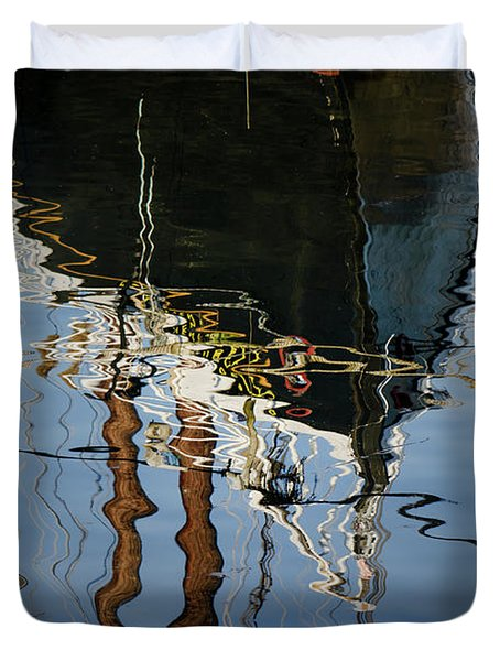 Abstract Boat Reflection IIi Duvet Cover