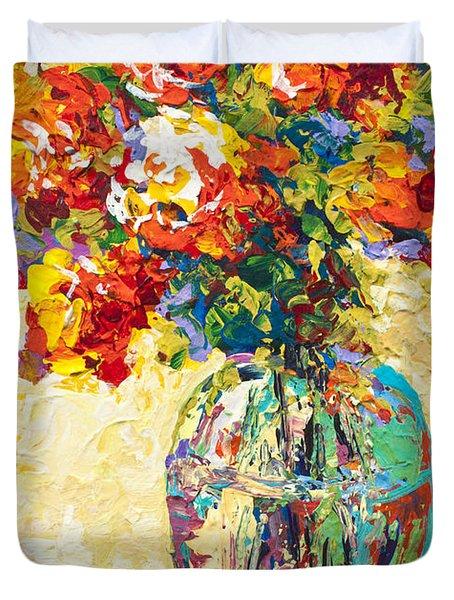 Abstract Boquet Iv Duvet Cover