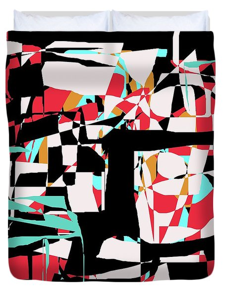 Abstract Boxes Duvet Cover by Jessica Wright