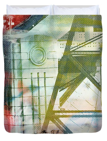 Abstract Bridge With Color Duvet Cover
