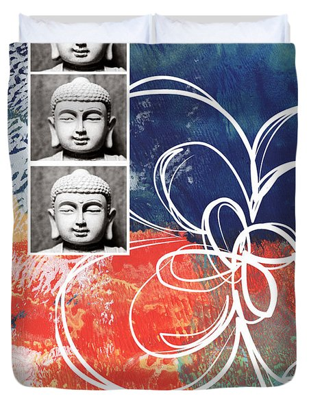 Abstract Buddha Duvet Cover