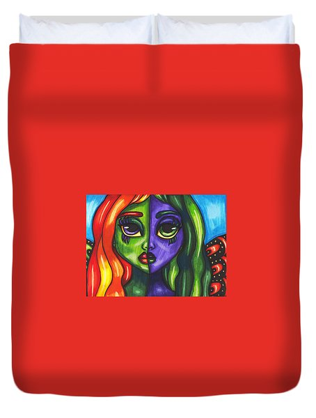 Abstract Butterfly Fairy Girl Duvet Cover