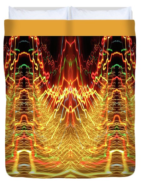 Abstract Christmas Lights #175 Duvet Cover by Barbara Tristan