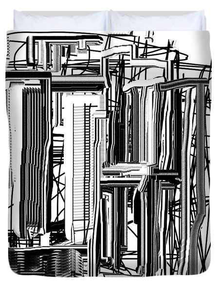 Abstract City #2 Duvet Cover by Jessica Wright