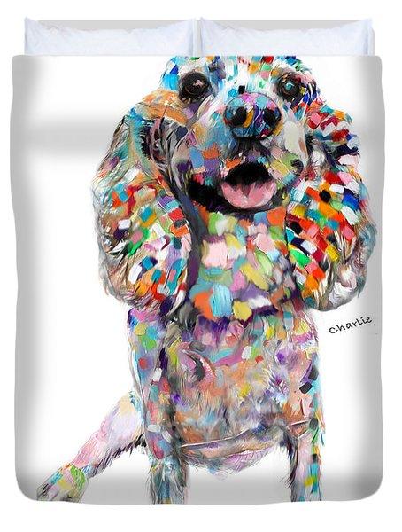 Abstract Cocker Spaniel Duvet Cover