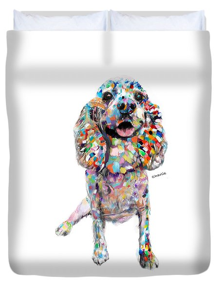 Abstract Cocker Spaniel Duvet Cover
