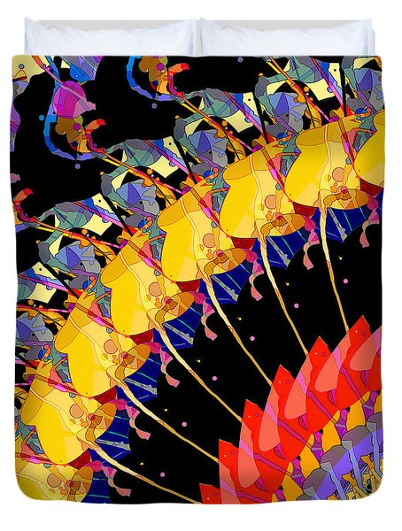 Duvet Cover featuring the digital art Abstract Collage Of Colors by Phil Perkins
