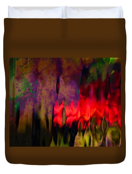 Duvet Cover featuring the photograph Abstract Color by Erin Kohlenberg