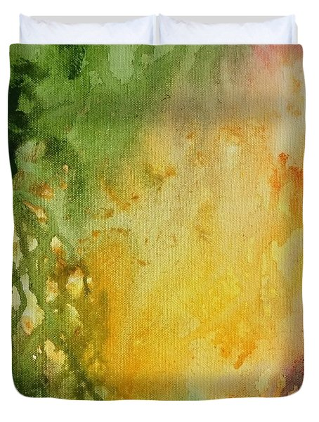 Abstract Color Splash Duvet Cover