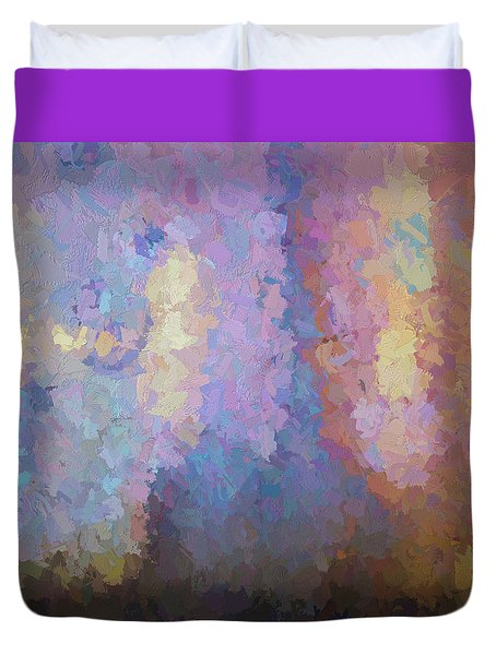 Abstract Columns Duvet Cover