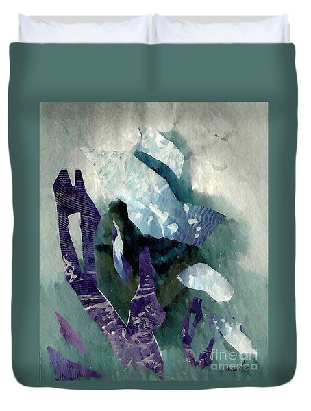 Abstract Construction Duvet Cover by Sarah Loft