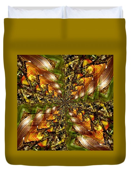 Abstract Cornfield 1 Duvet Cover