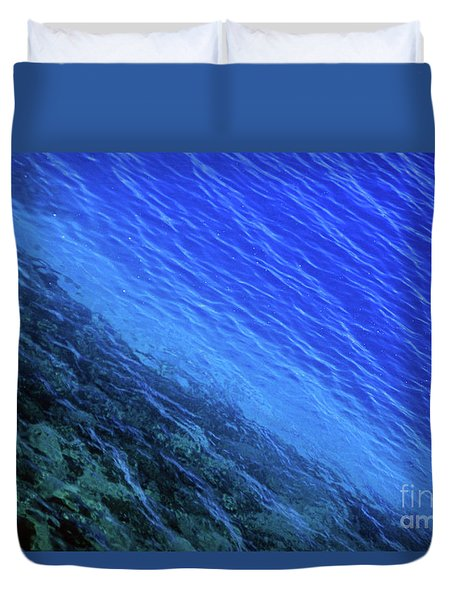 Abstract Crater Lake Blue Water Duvet Cover