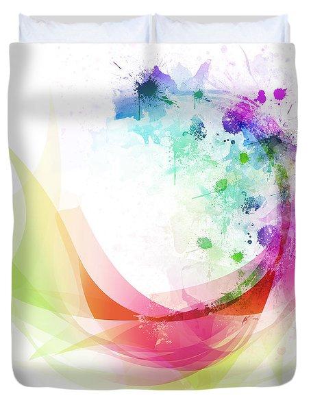 Abstract Curved Duvet Cover by Setsiri Silapasuwanchai