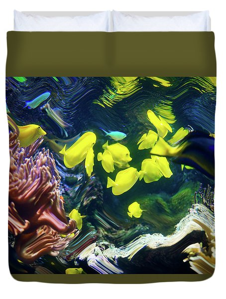 Abstract Dancing Colorful Ish Duvet Cover