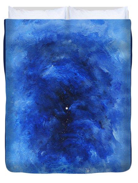 Abstract Dark Blue Night Duvet Cover