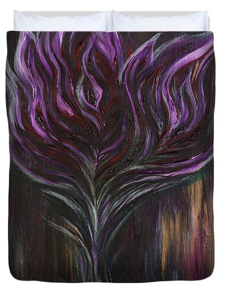 Abstract Dark Rose Duvet Cover