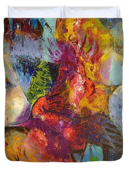 Abstract Depths Duvet Cover