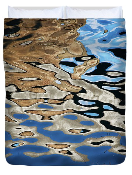 Abstract Dock Reflections I Color Duvet Cover