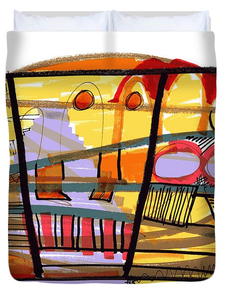Abstract Drawing Sixty-seven Duvet Cover