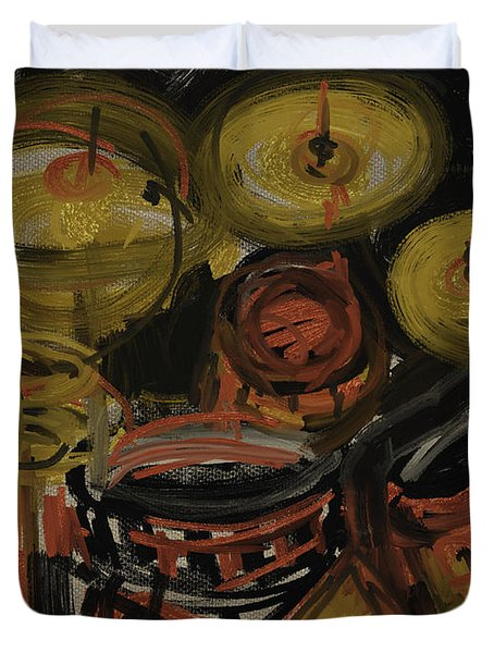 Abstract Drums Duvet Cover