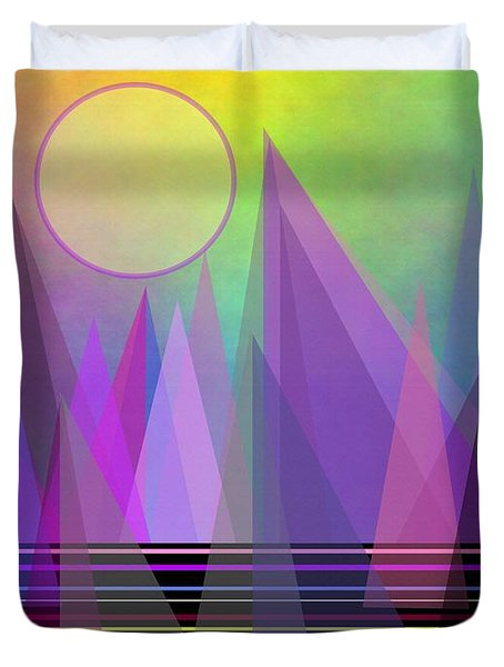Abstract Elevation Duvet Cover by Kathleen Sartoris
