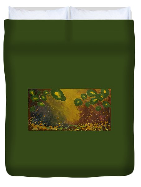 Abstract Enchanted Forest Duvet Cover