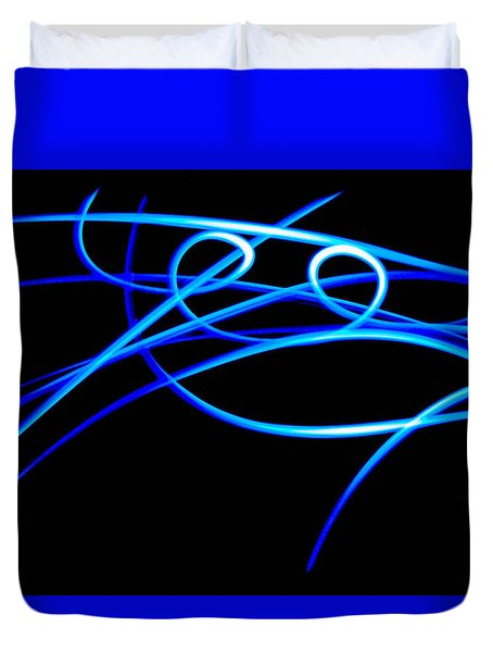 Abstract Energy Flow Duvet Cover by Bruce Pritchett