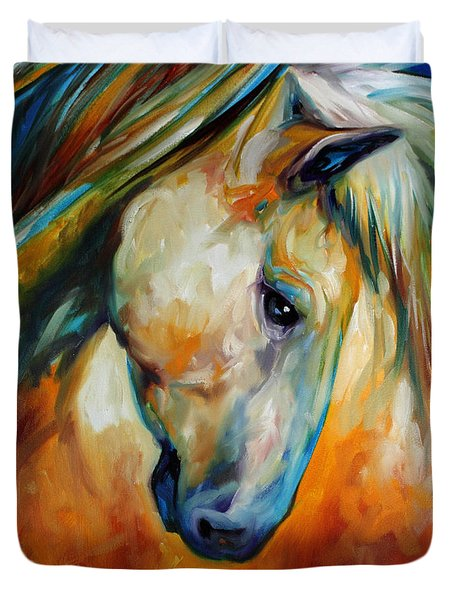 Abstract Equine Eccense Duvet Cover