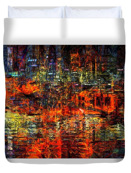 Abstract Evening Duvet Cover